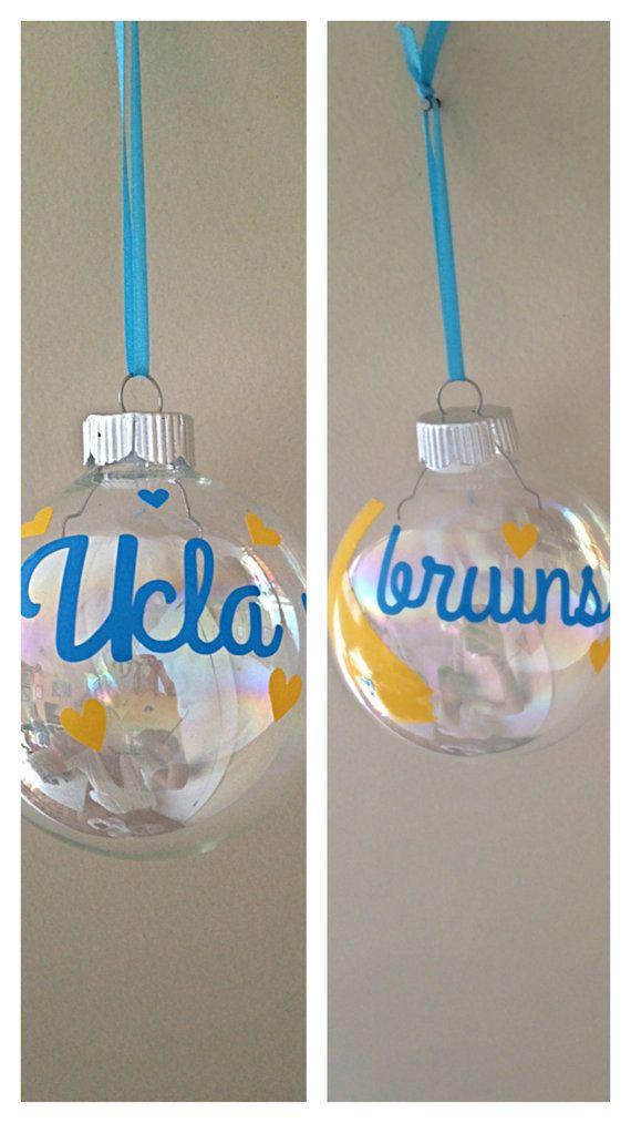 college football.bruins. California.UCLA bruins Christmas ornament Great California by SEVENTHandJ, $10.00