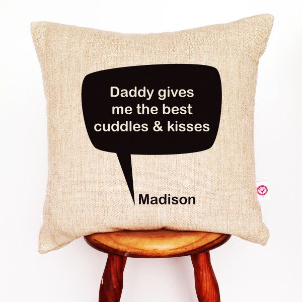 Speech bubble personalised linen cushion cover