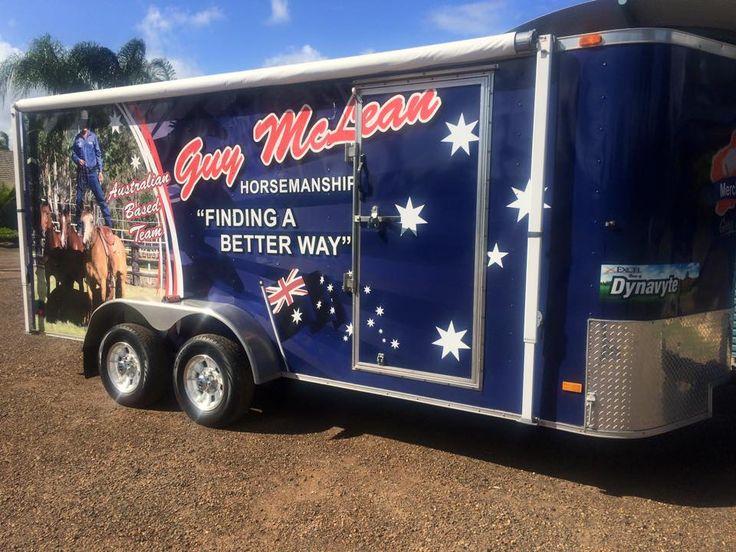 Guy's merchandise trailer full of goodies to purchase in Australia.