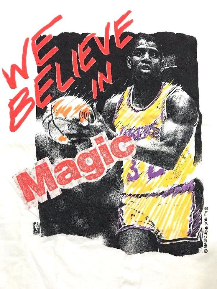 Vintage Los Angeles Lakers Shirt mens size XL NBA Johnson T's BELIEVE IN MAGIC #MagicJohnsonTs #LosAngelesLakers