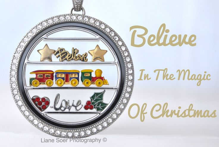 Origami Owl Legacy locket with window shelf. You can find this locket and more at lianesoer.origamiowl.com #OrigamiOwl #LegacyLocket #MagicOfChristams #TrainSet #Believe