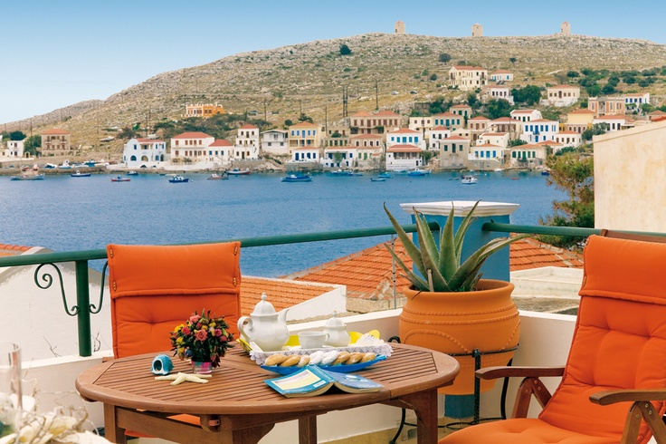 New arrivals! Check our latest villas for the unspoilt island of Halki, just off Rhodes in the Dodecanese. The views from the terrace of villa Vokolia are jaw-dropping!