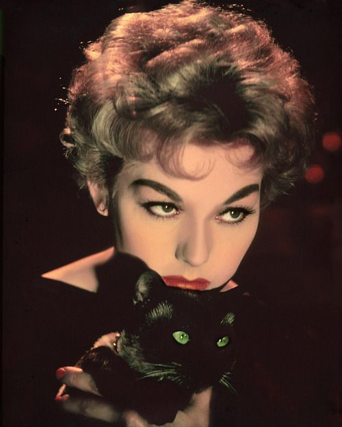 wehadfacesthen: Kim Novak, publicity shot for Bell, Book and Candle (1958)