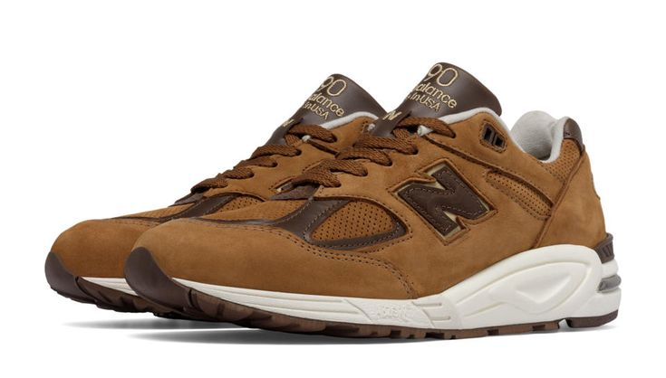 990v2 New Balance, Brown with White & Brown
