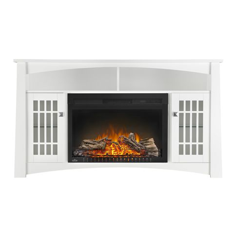 Napoleon The Adele White Media Cabinet With Electric Fireplace (NEFP27-0815W)