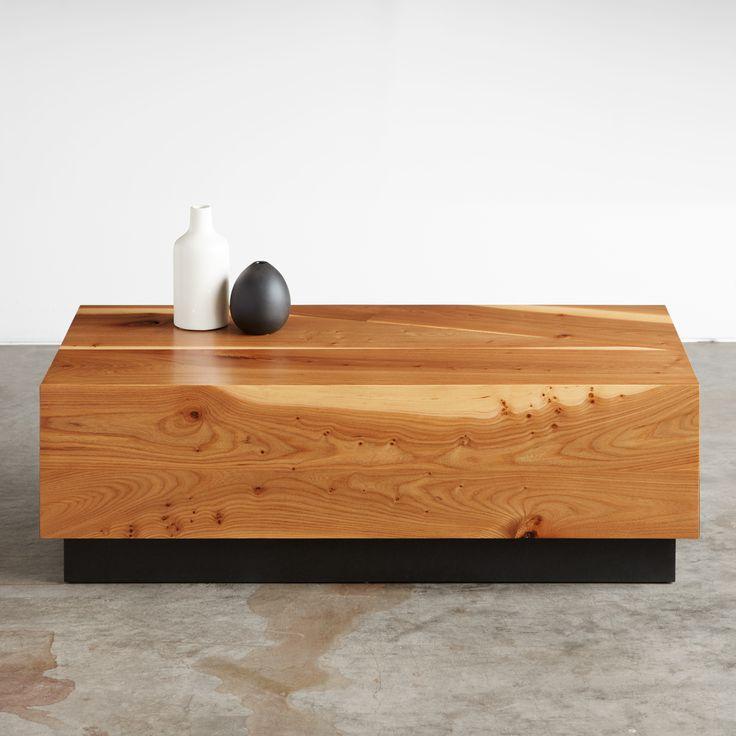 English Elm Coffee Table Sustainable Urbanhardwoods Salvaged Furniture Design