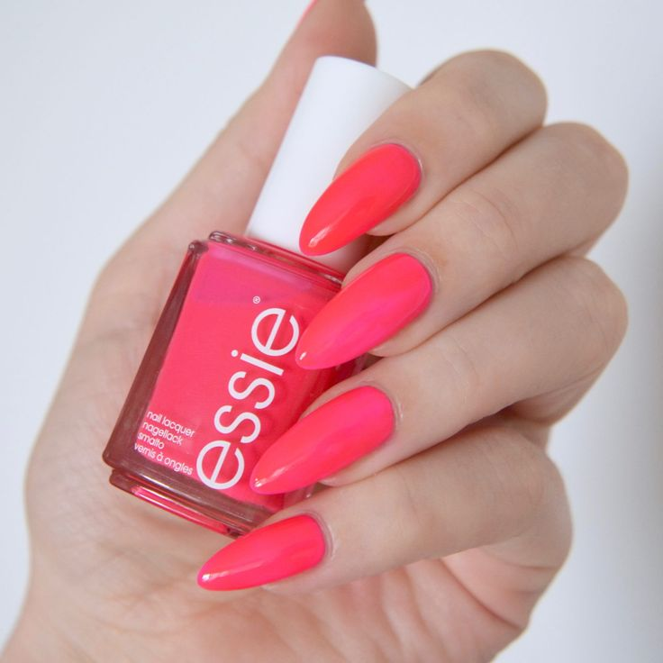 Essie Neon 2017 Collection: 'off the wall' - neon pink nail polish