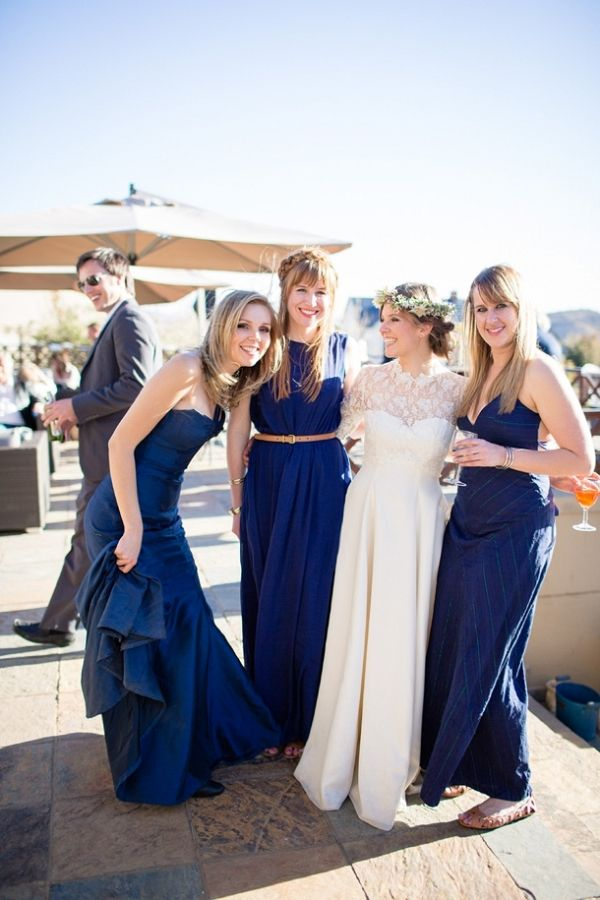 Navy Blue Bridesmaid Dresses | Howling Moon Photography on @SouthBoundBride via @aislesociety