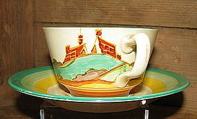 Clarice Cliff Secrets Cup and Saucer