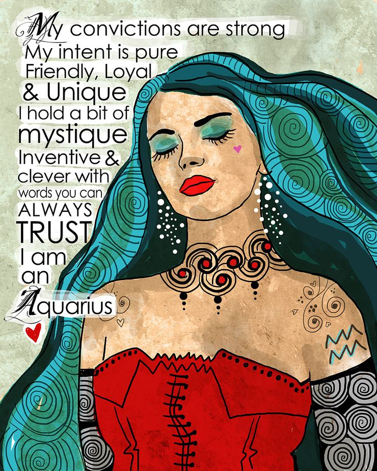 Aquarius Art print by Suzanne Millius.