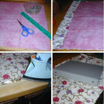 DIY Fabric-covered photo album using a 3-ring binder, fabric, and hot glue. I'm doing THIS instead of buying expensive photo albums.
