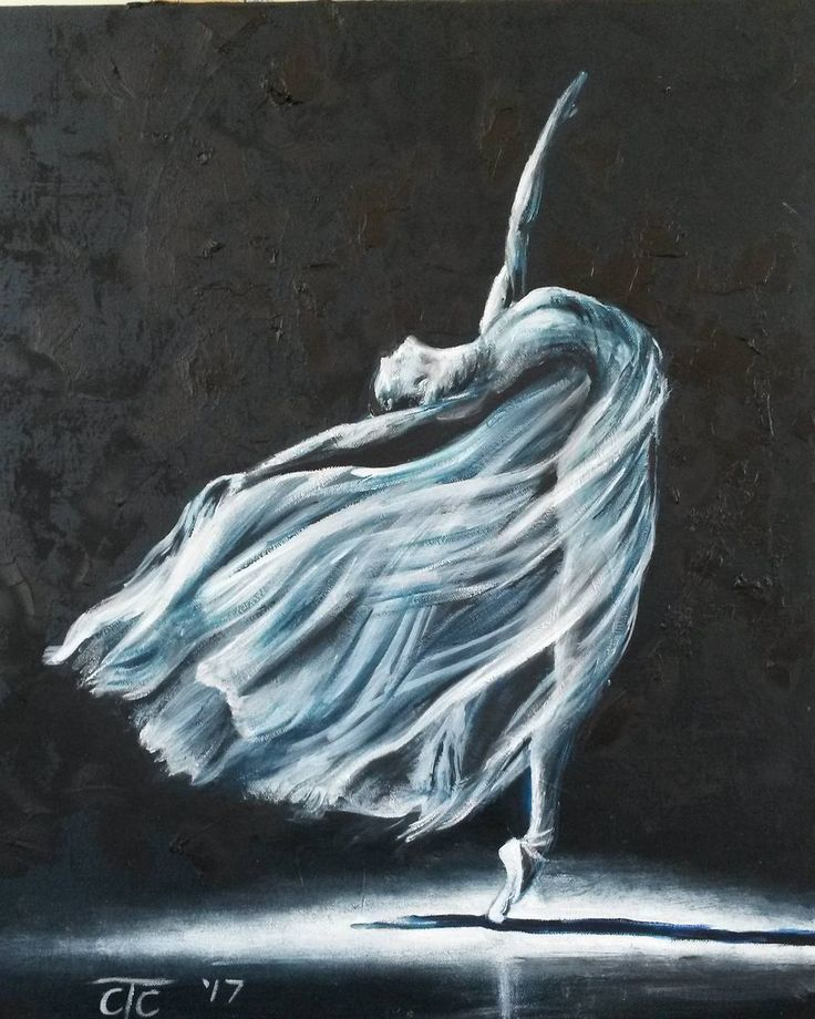 "17 Likes, 1 Comments - Carina Turck-Clark (@thouartuseful) on Instagram: ""Grace in movement. Original oil painting by Carina Turck-Clark. Monochrone (black and white), with…"""