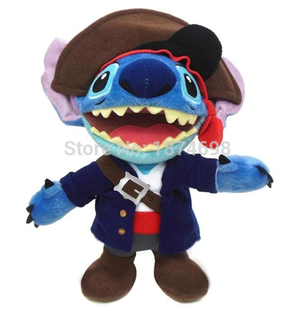 """Rare Original Lilo and Stitch Toys Pirate of the Caribbean Stitch Plush Doll Toy 18"""" 45cm Stuffed Animals Kids Baby Toy Gift"""