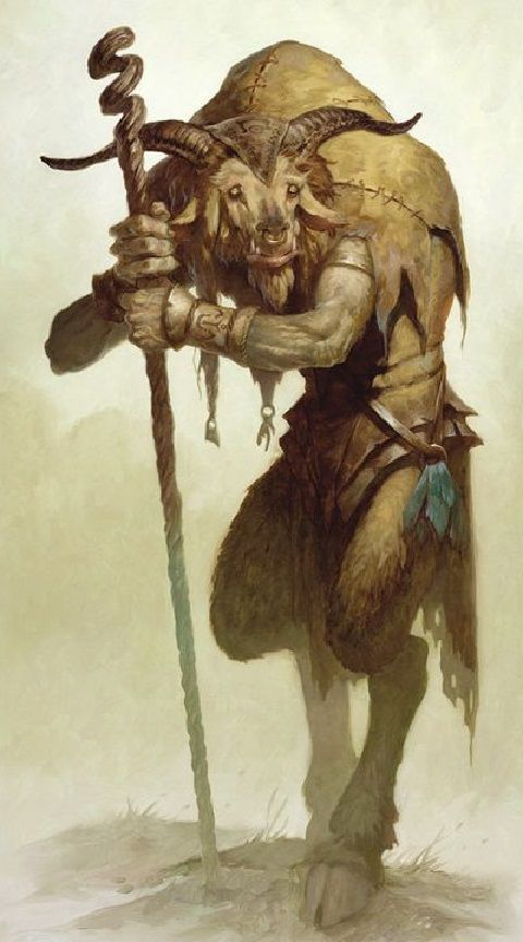 Mage Goat by Brom
