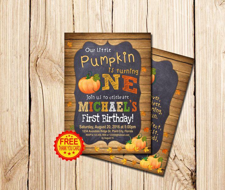 PUMPKIN INVITATION, Pumpkin Patch Birthday Invitation, Fall Birthday Invitation, Chalkboard, Pumpkin Patch, Pumpkin Birthday Invitation by mymyparty on Etsy https://www.etsy.com/listing/466260123/pumpkin-invitation-pumpkin-patch