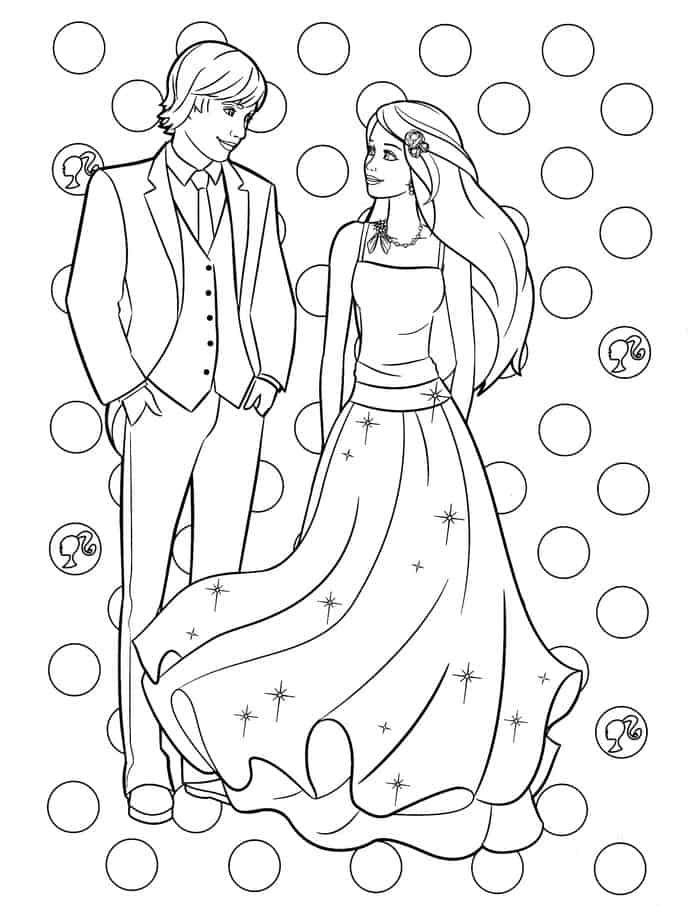 Barbie And Ken Coloring Pages Barbie Coloring Pages Barbie Coloring Barbie Drawing