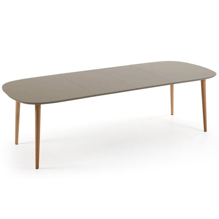 La table à manger rectangulaire extensible - TAO passe de 160 cm à 260 cm en un tour de main. Équipée de 2 rallonges, vous avez le choix de mettre une ou deux rallonges, selon le nombre d'invités en plus.