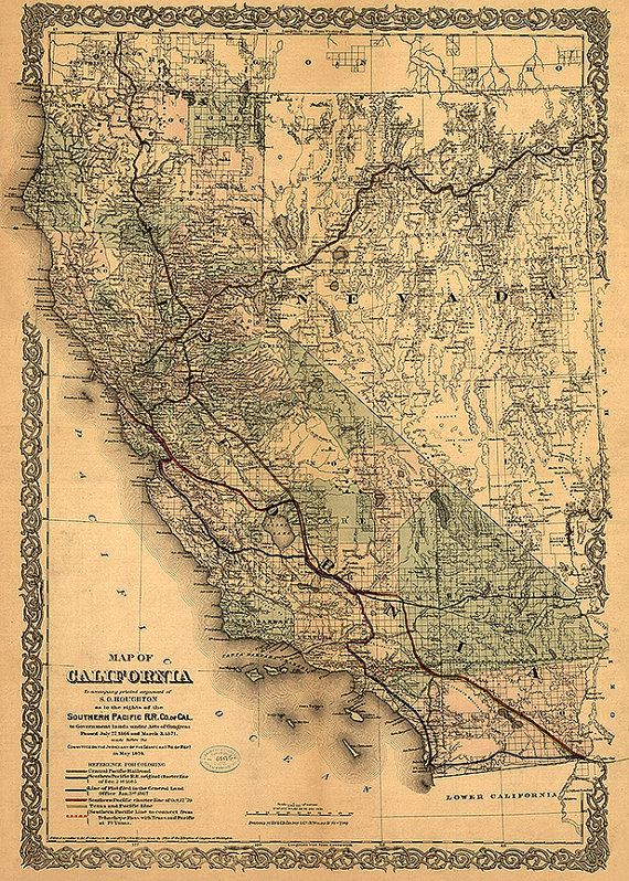 85 best California Vintage Map California images on Pinterest