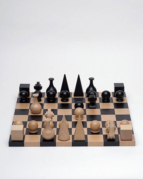 Chessboardby Man Ray  Chessboard in solid beech wood