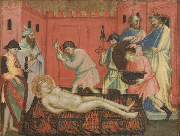 Mariotto di Nardo - Martirio di San Lorenzo - c. 1408 - Museum of Art, Rhode Island School of Design (RISD Museum)