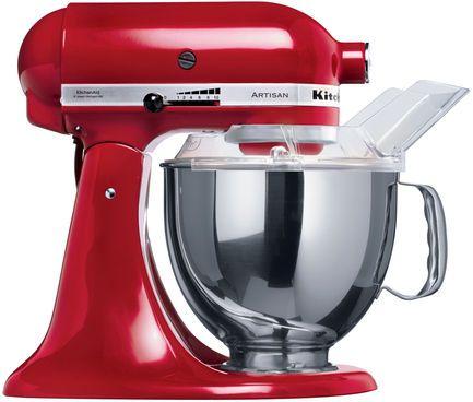 KitchenAid Artisan KSM150 Küchenmaschine, 4.8l, rot #Küche #Küchengerät #Maschine #Haushalt #Galaxus