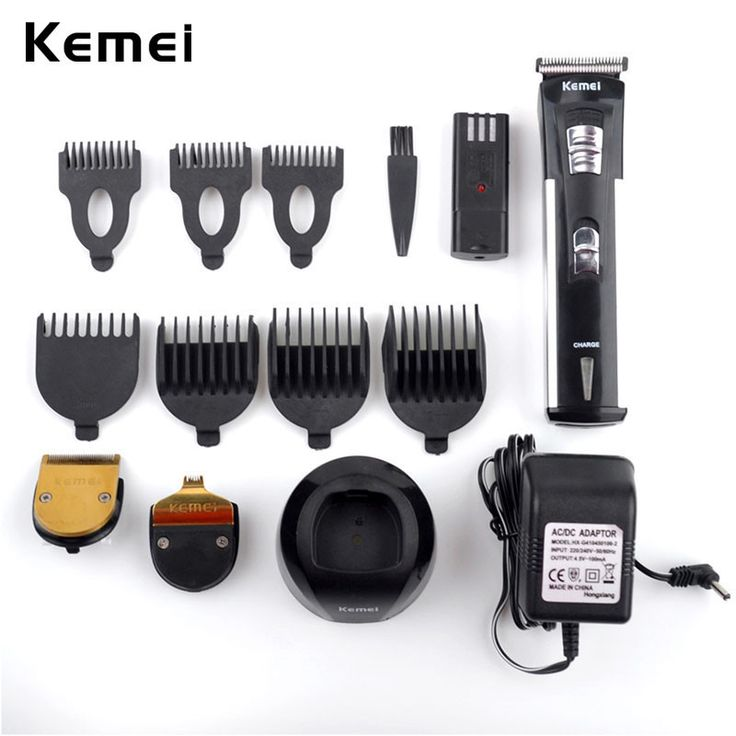 Rechargeable Hair Trimmer 3 Trim Heads+7 Limited Combs Professional Electric Shaver For Men Hair Clipper Machine To Haircut Hair