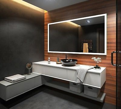 Details zu Badspiegel mit LED Beleuchtung Wandspiegel - badezimmerspiegel mit led