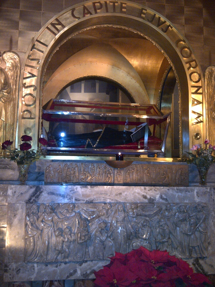 Basilica of Cascia, Grave of Saint Rita, Cascia. A frequent stop for catholics on pilgrimage.