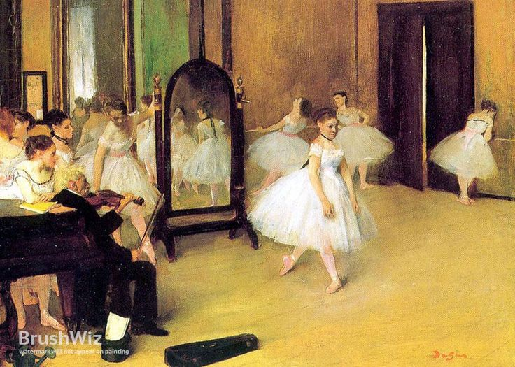 Dance Class by Edgar Degas - Oil Painting Reproduction - BrushWiz.com