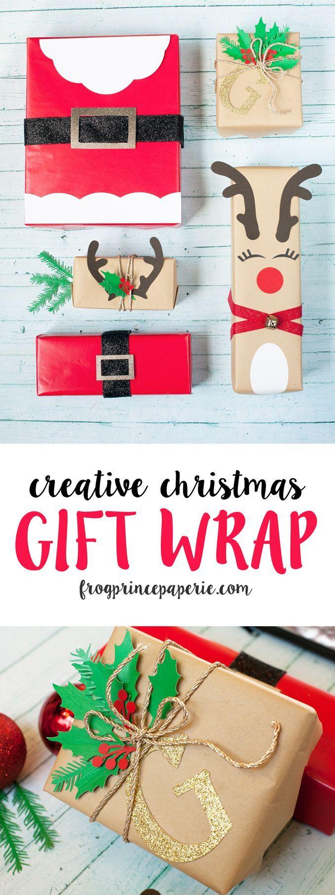 Creative Gift Wrapping with Cricut Explore #cricutholiday #giftwrap #christmas #...