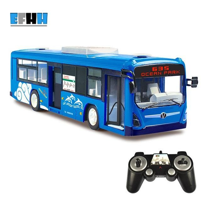 ShuangYing 2.4GHz Bus Model Simulation Urban Bus Remote Control Car Chargeable Children Toys RC Open Door with Flashing Musical