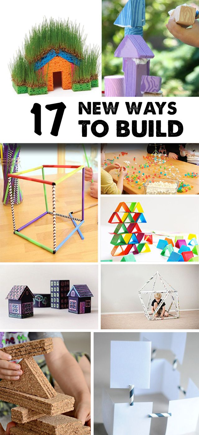 Great STEM building and engineering activities for kids.