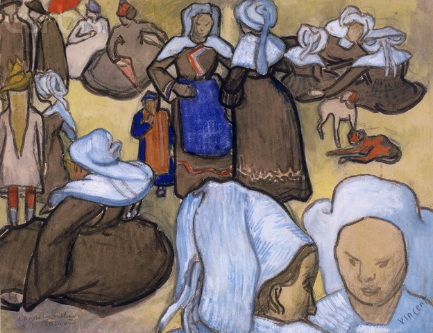 12-11-11  Breton Women by Vincent Van Gogh. 1888