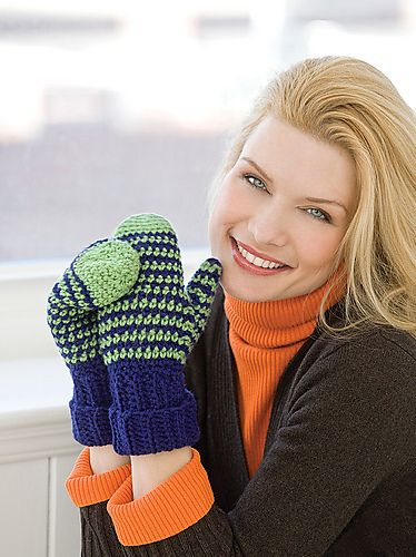 Crochet Mittens pattern by Nancy Anderson