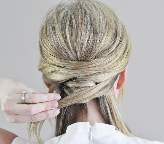 """This seemingly intricate """"woven"""" style, created for Real Simple by The Small Things blogger Kate Bryan, calls for just a few pins and tucks."""