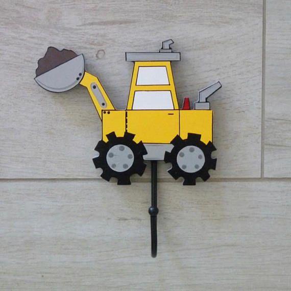 Kids Wall Hooks Digger Decor Kids Hooks Kids Wall Hooks