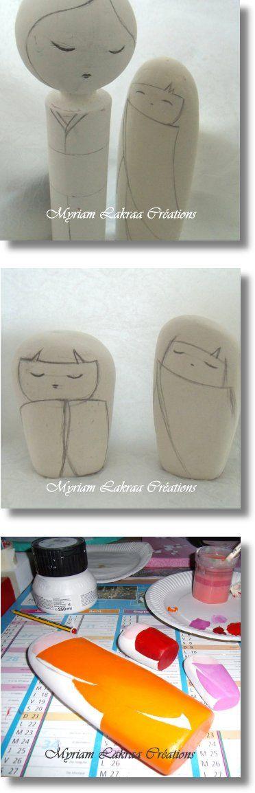 Sculptures en papier mâché avec matériaux recyclés (travail en cours) - Myriam Lakraa Créations - 2011