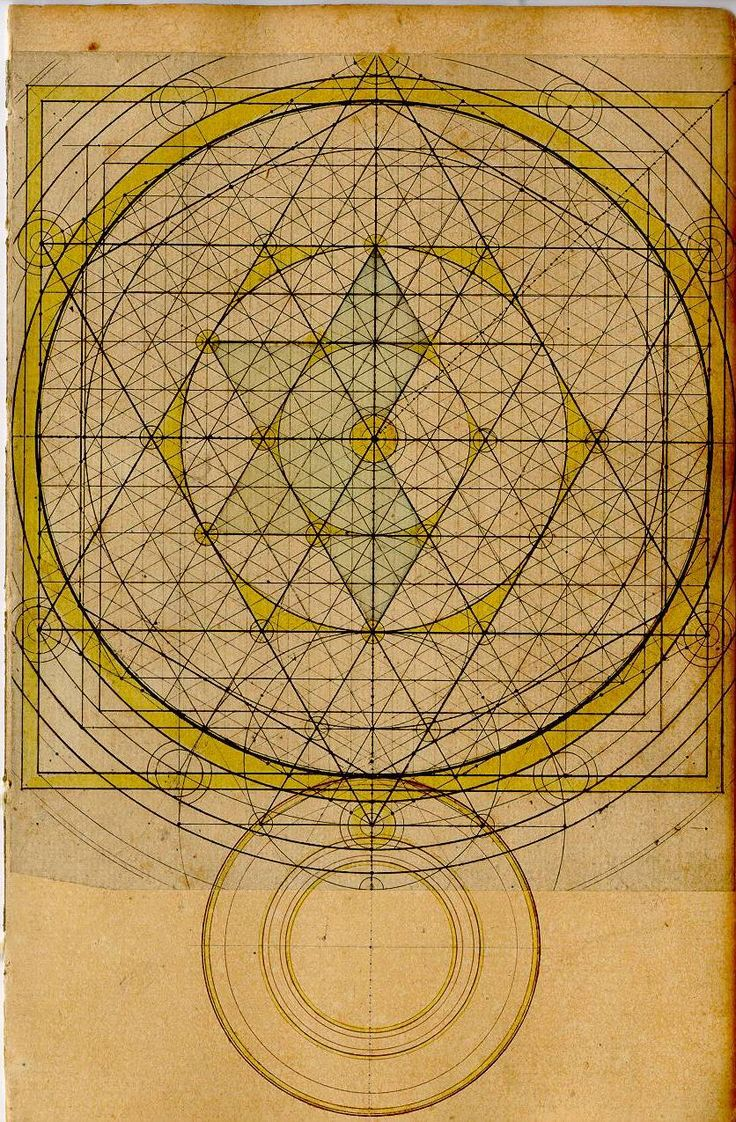 Beauteous geometrical drawing. Robert Boyle: Curious Mathematical Forms (1670) Sacred Geometry