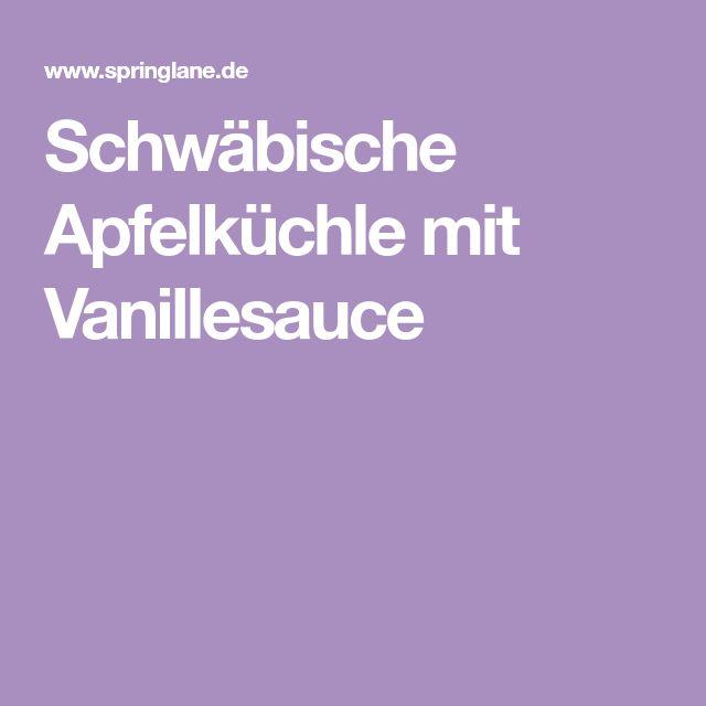 Schwäbische Apfelküchle mit Vanillesauce