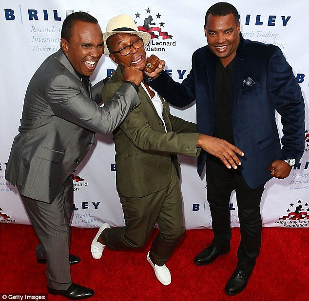 Punchline: Sugar Ray and Ray Charles Leonard Jr pretended to KO comic Tommy Davidson