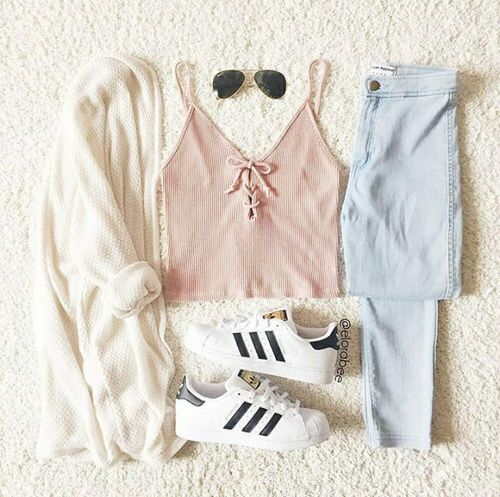 Light pastel coloured outfit                                                                                                                                                                                 More