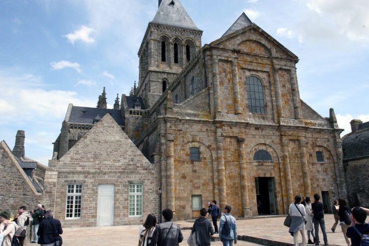 De hoofdkerk van de Mont Saint Michel