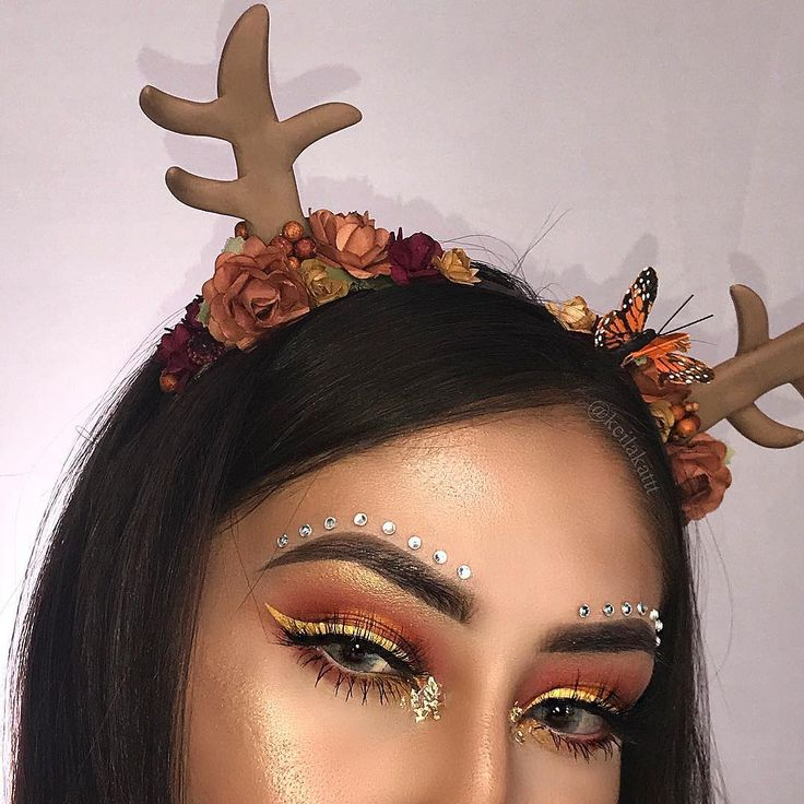 reindeer makeup festive christmas holiday