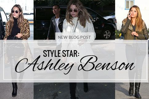 Ashley Benson has been killing it in the style stakes this year and we can't get enough.   Most famous for her role as Hanna in the cult television series Pretty Little Liars, Bensons style has evolved in leaps and bounds since her face first hit our screens. Her street style is a tried and tested equation of t-shirts, jeans and leather jackets that offers the perfect compromise between comfort and cool... see more http://yurn.it/s/1a2