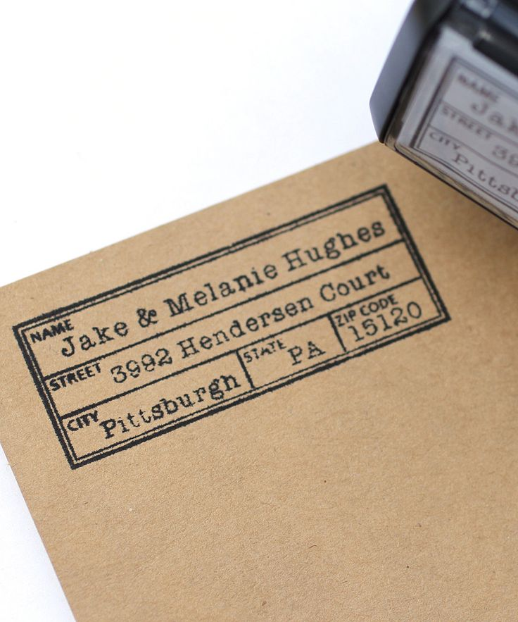 Vintage Label 2.5'' Personalized Self-Inking Stamp