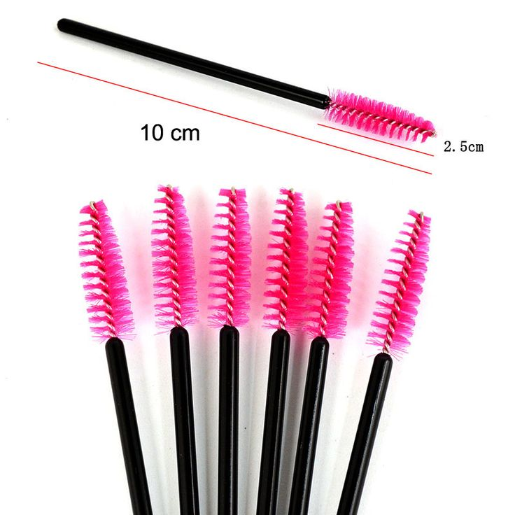 New 10pcs/lot make up brush Pink synthetic fiber One-Off Disposable Eyelash Brush Mascara Applicator Wand Brush best deal