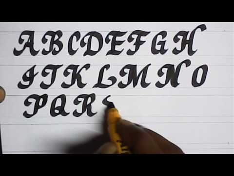 Satisfying calligraphy video compilation | calligraphy with marker | Mazic Writer - YouTube