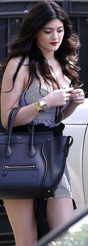 Kylie Jenner black tote CELINE