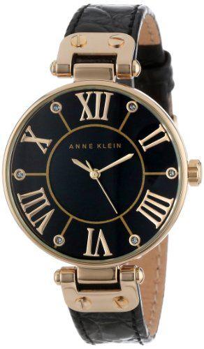 Anne Klein Women's AK/1396BMBK Gold-Tone Black Mother-Of-Pearl Dial Leather Dress Watch Anne Klein http://www.amazon.com/dp/B00DJLO5ZI/ref=cm_sw_r_pi_dp_pT8tub109ZMGA