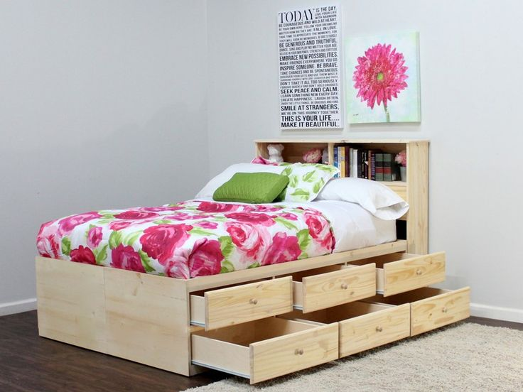 full storage bed 12 drawers